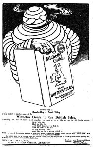 A 1911 advert for the Michelin guide (Courtesy of Wikipedia)